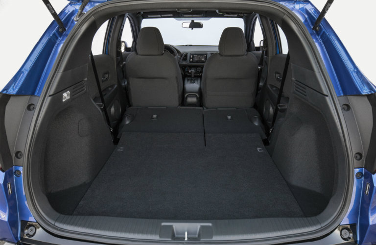 rear seats folded in honda hr-v