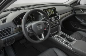 interior front seats and dash of honda accord