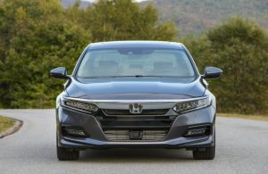 front view of dark gray honda accord