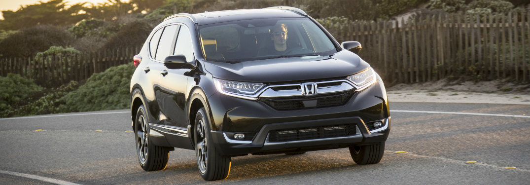 front view of black honda cr-v