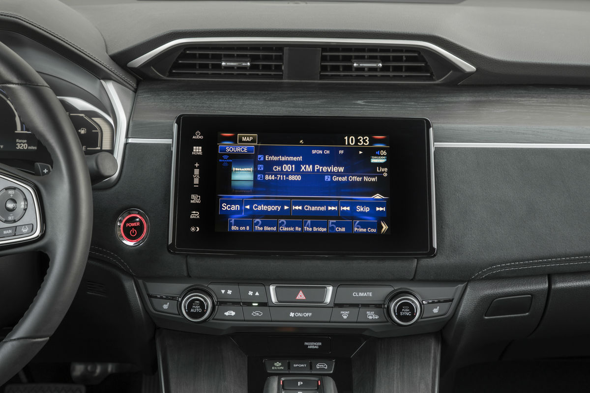 Touchscreen display of the 2019 Honda Clarity Plug-In Hybrid