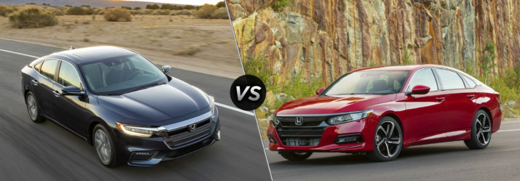 Honda Accord Vs Civic >> A Side By Side Comparison Of The 2019 Honda Insight 2019 Accord