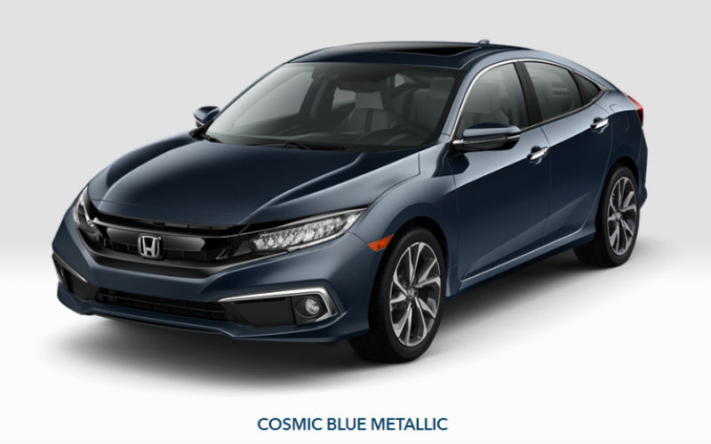 20109 Honda Civic Sedan in Cosmic Blue Metallic