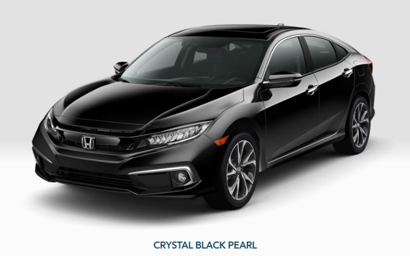 20109 Honda Civic Sedan in Crystal Black Pearl