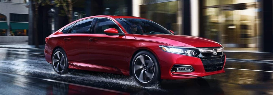2019 Honda Accord driving through a city