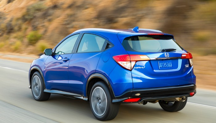 2019 Honda HR-V driving on a mountain road