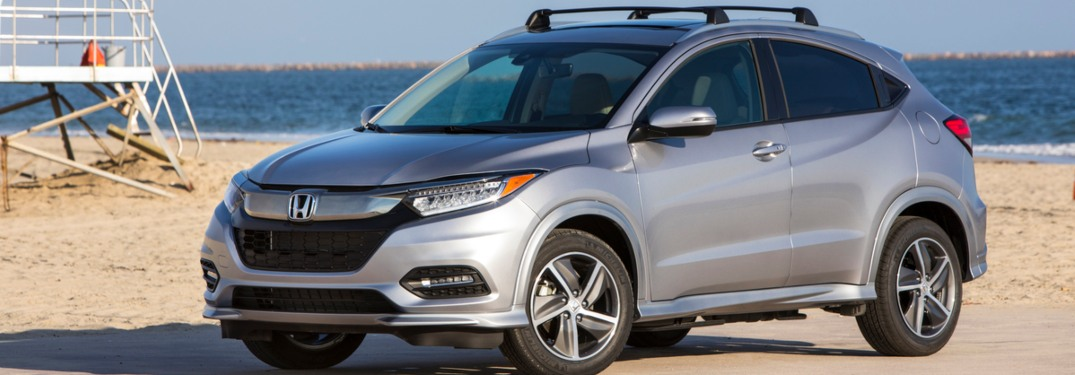 2019 Honda HR-V parked on a beach