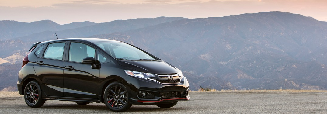 2019 Honda Fit parked in a lot on a mountain