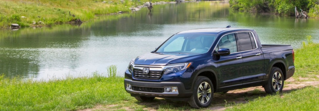 2019 Honda Ridgeline parked near a river
