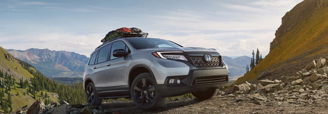 2019 Honda Passport driving up a mountain