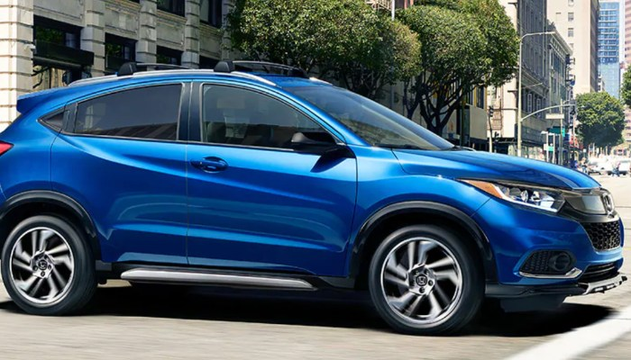 2019 Honda HR-V parked on a city street