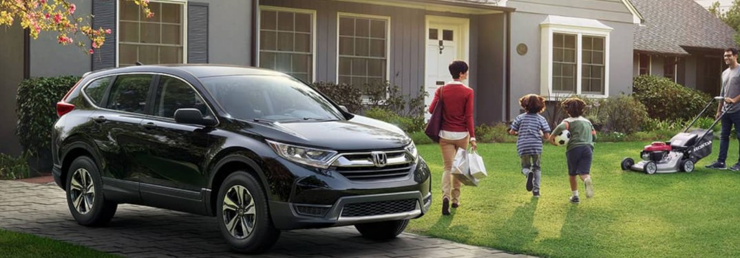 2019 Honda CR-V parked in a house's driveway
