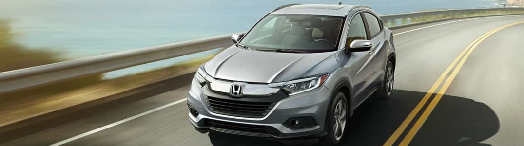 2019 Honda HR-V driving down a highway