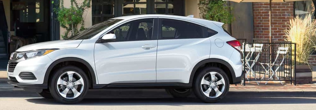2019 Honda HR-V parked in front of a building