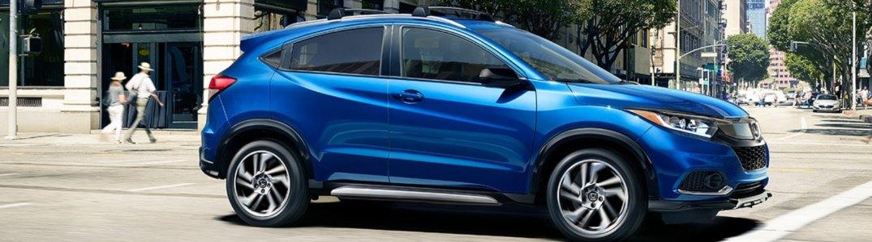 2019 Honda HR-V driving down a city street