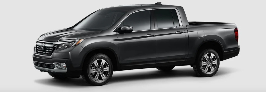 2019 Honda Ridgeline over abstract background