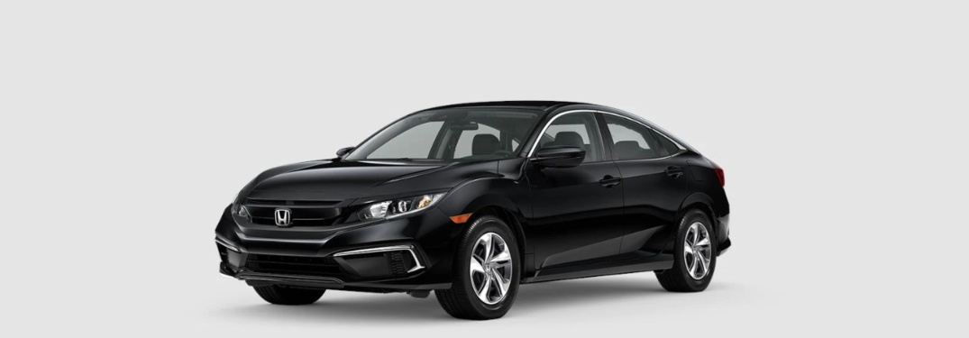 2020 Civic Sedan LX over an abstract background