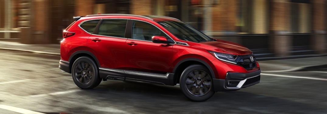 2020 Honda CR-V driving down city streets