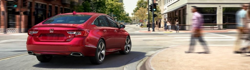 2020 Honda Accord making a right turn on a city street