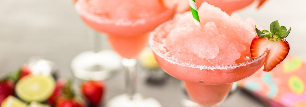 Strawberry margarita close-up