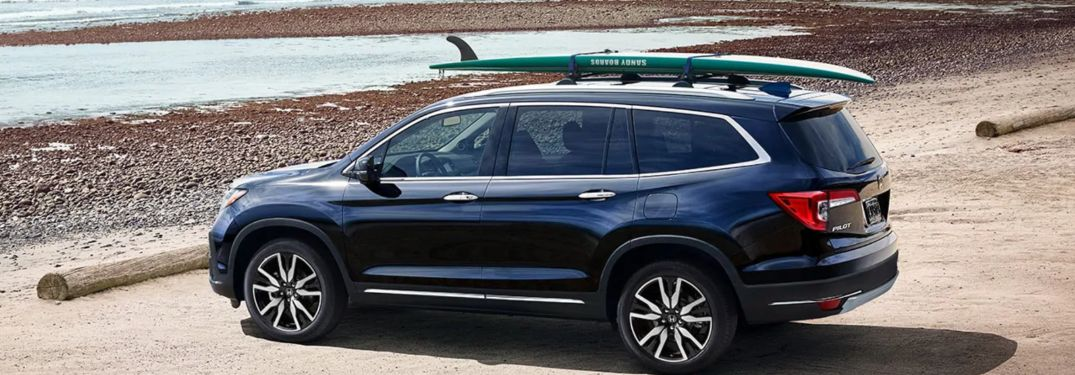 2020 Honda Pilot parked on a beach