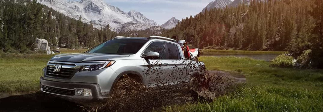 2020 Honda Ridgeline driving off-road
