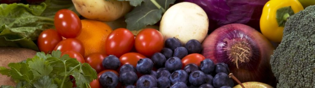Close-up on a variety of vegetables