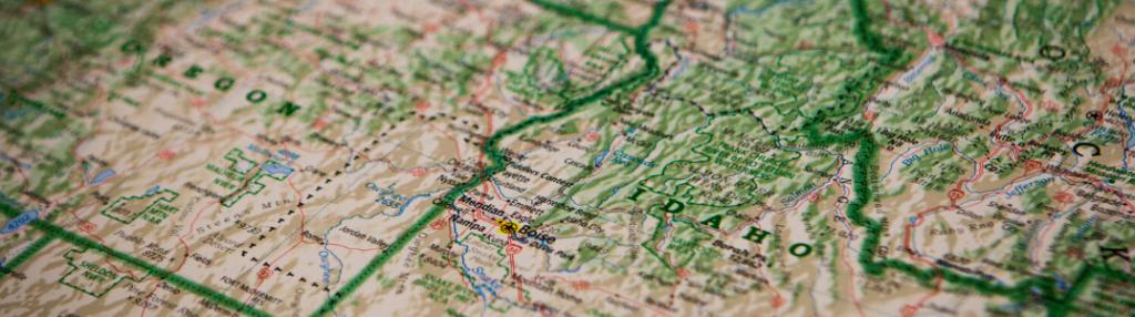 A road map close up