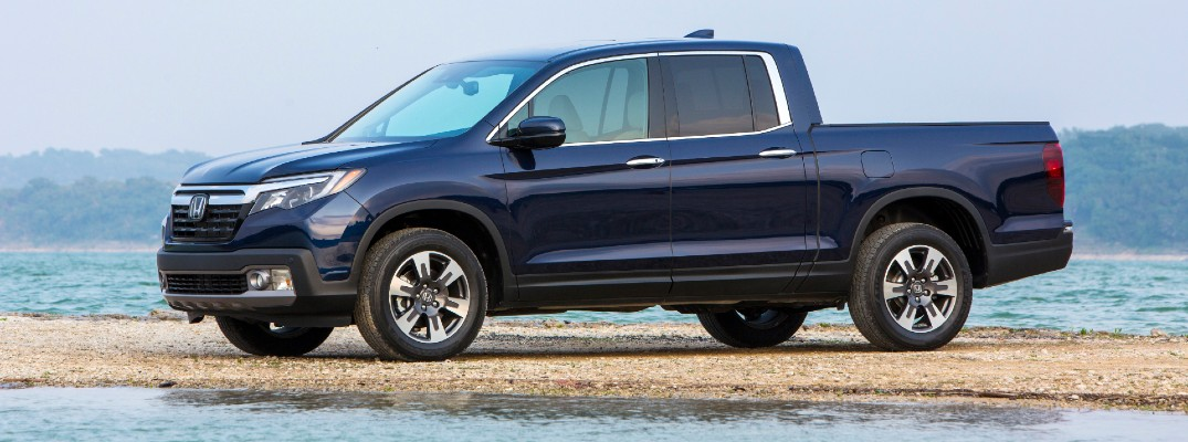 2020 Honda Ridgeline parked on a beach