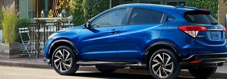 2020 Honda HR-V driving down a rural road