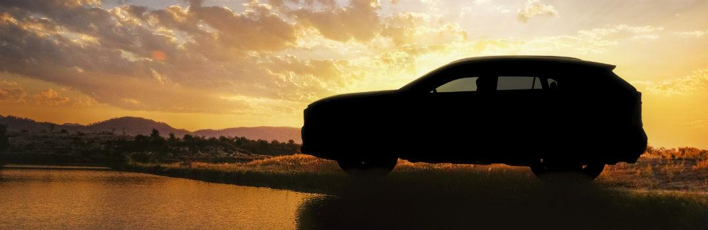 All-new Next-gen 2019 Toyota RAV4 Exterior Driver Side Silhouette on Sunset