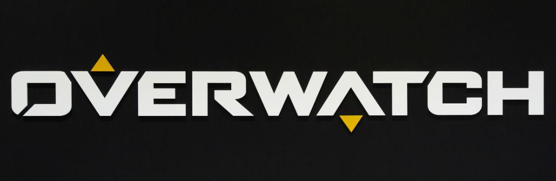 Overwatch Video Game Logo on Black Background