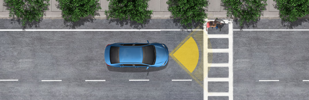 2019 Model Year Simulation of Toyota Safety Sense 2.0 Pre-Collision System with Pedestrian Detection