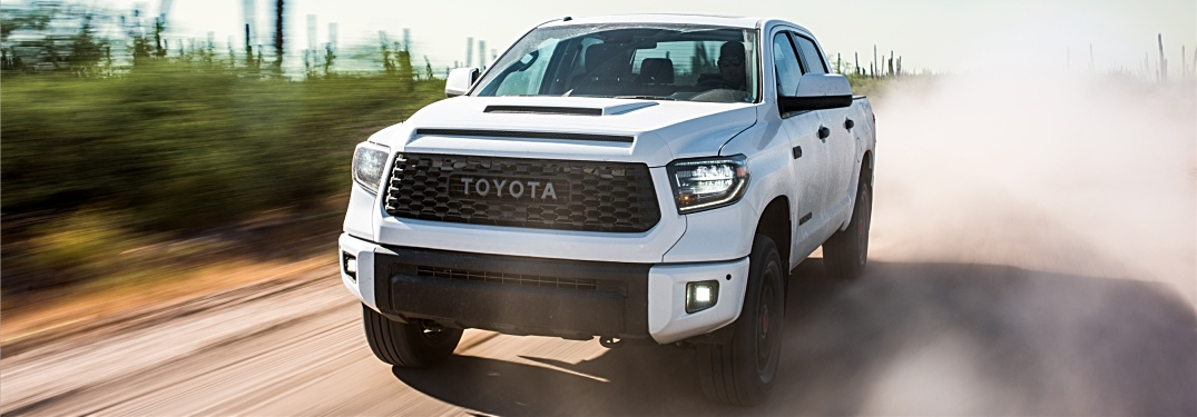 2019 Toyota Tundra TRD Pro white front view with grille