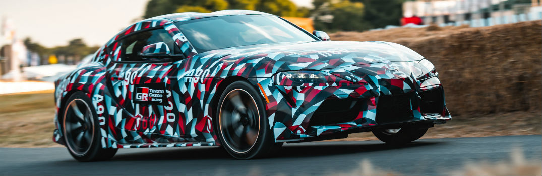 2019 Toyota Supra Exterior Passenger Side Front Angle in Camouflage