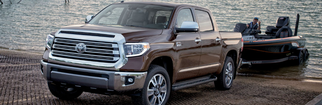 2019 Toyota Tundra Exterior Driver Side Front Profile while Towing