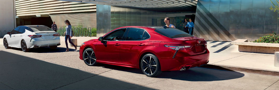 2019 Toyota Camry XSE V6 Models Exterior Driver Side Rear Angles