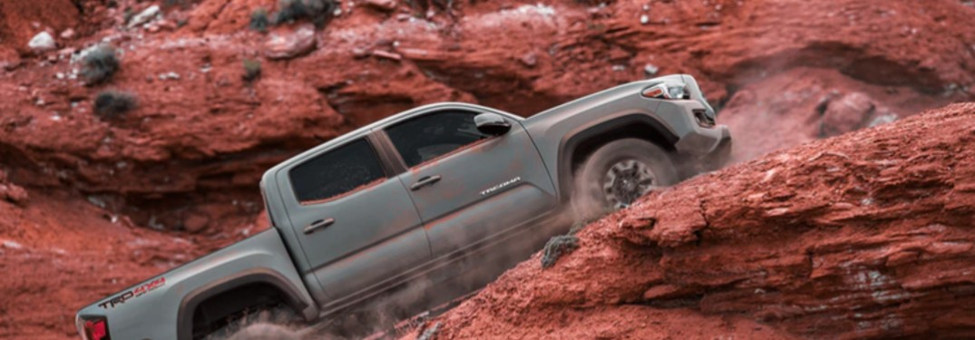 Toyota Tacoma Driving Up Hill