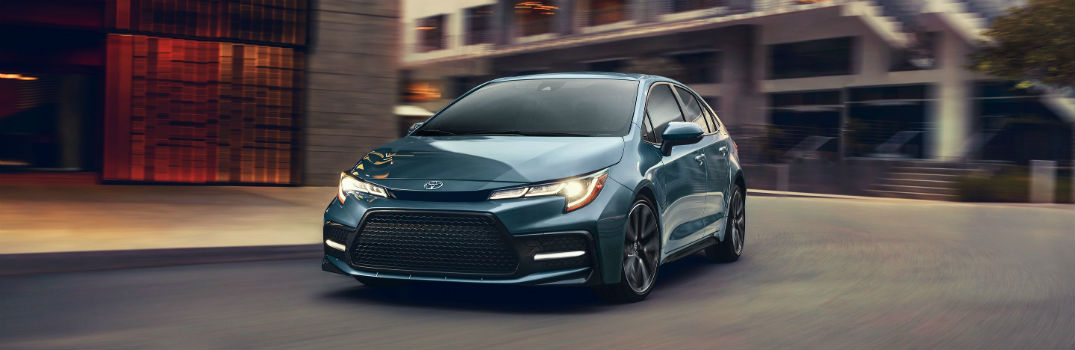 2020 Toyota Corolla Exterior Driver Side Front Angle in Celestite