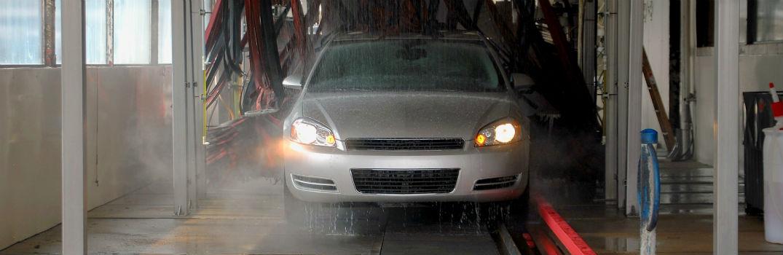 vehicle driving through a car wash