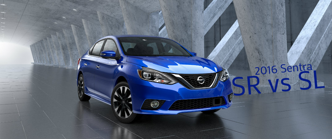 2016 nissan sentra sr vs sentra sl. Black Bedroom Furniture Sets. Home Design Ideas