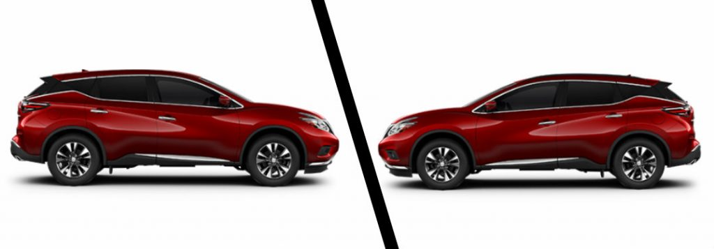 2017 nissan murano s vs sv. Black Bedroom Furniture Sets. Home Design Ideas