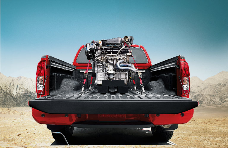 2017 Nissan Frontier with engine in truck bed