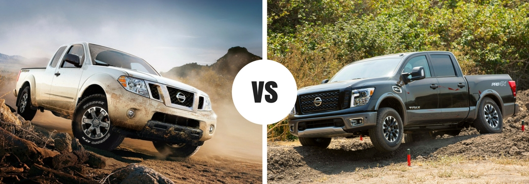 2017 Nissan Frontier and 2017 Nissan Titan head-to-head comparison