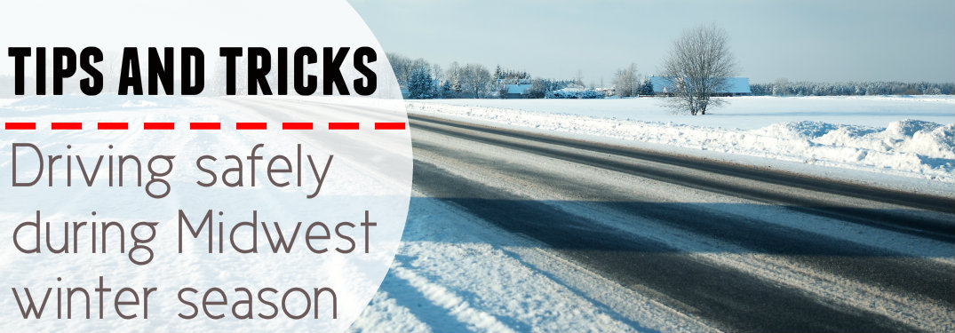 Snowy-road-with-text-saying-Tips-and-Tricks-driving-safely-during-Midwest-winter-season