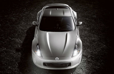 2019 Nissan 370Z Coupe exterior front fascia and top view