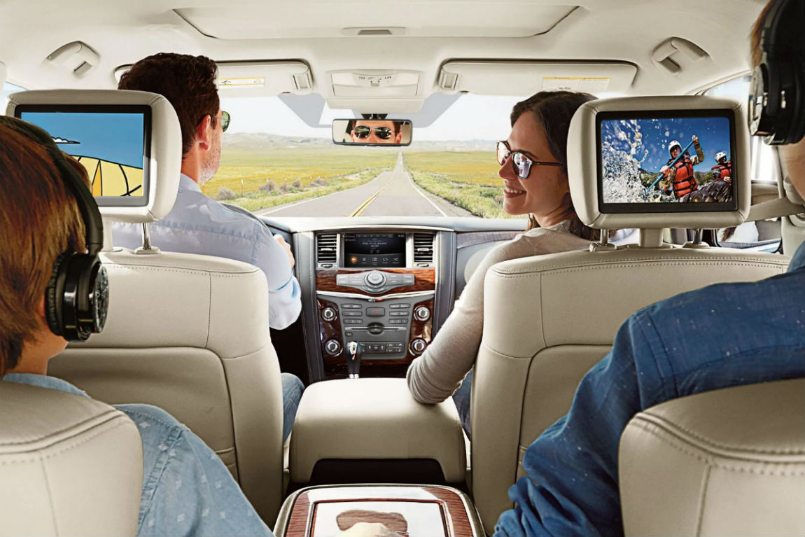 Available rear seat entertainment system of the 2019 Nissan Armada