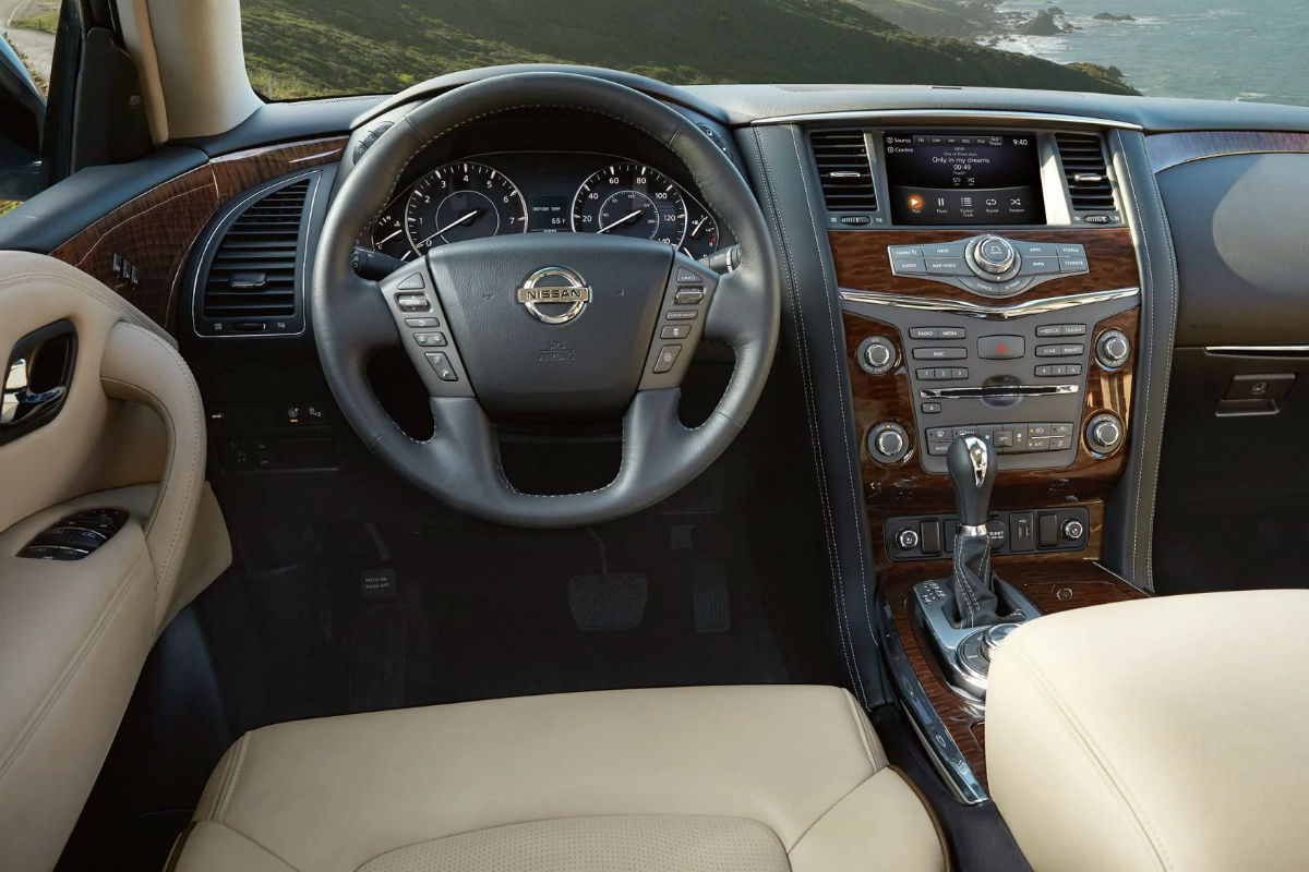 Driver's cockpit of the 2019 Nissan Armada