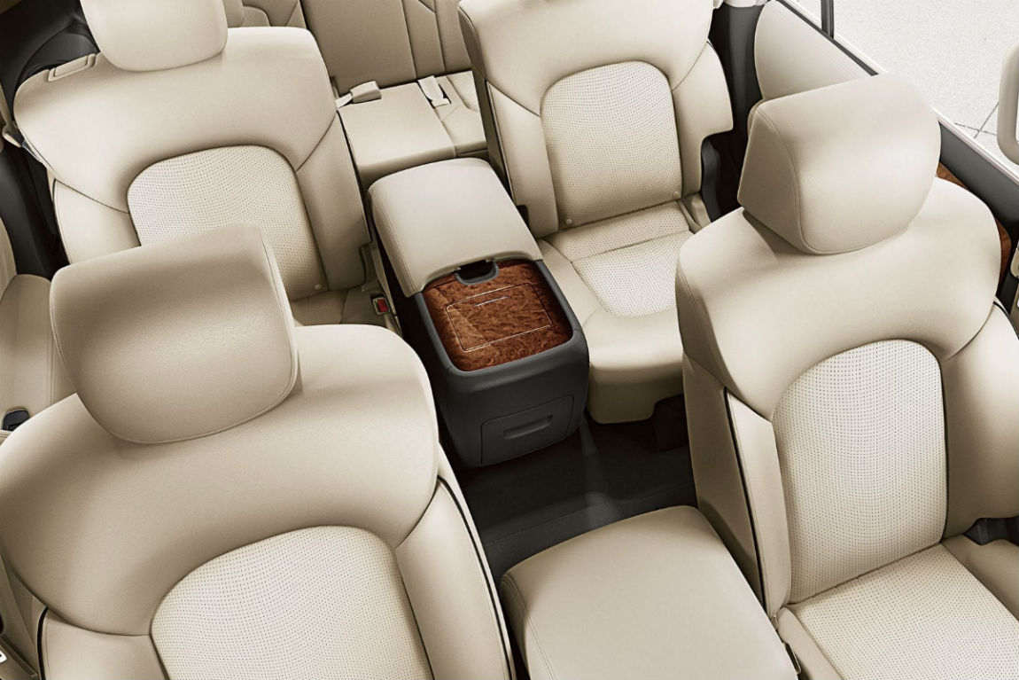 Overhead view of the front two rows of seating in the 2019 Nissan Armada