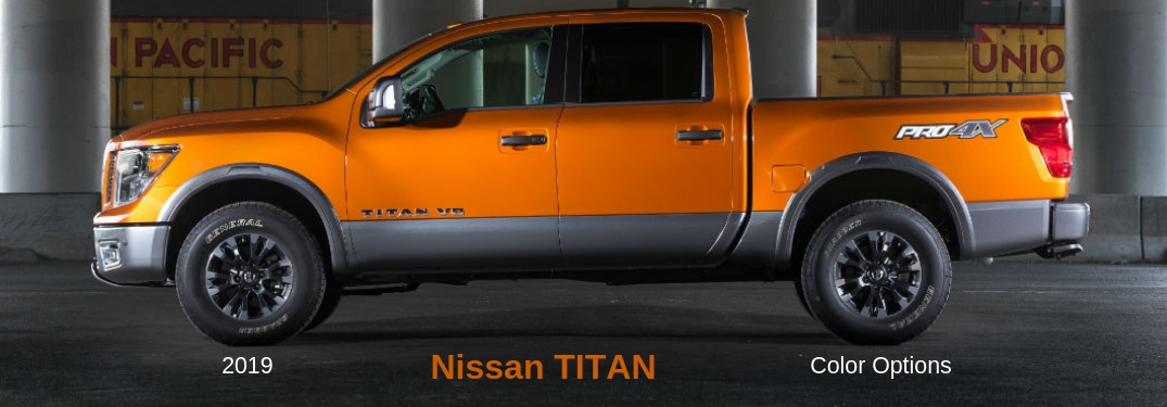 How Many Paint Color Options are there for the 2019 Nissan TITAN®?
